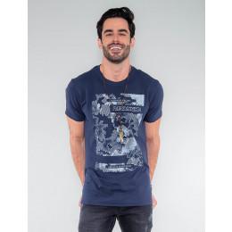 Camiseta Atacado California Dreamns Masculina Revanche Barbados Preto Frente