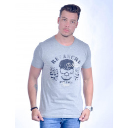 Camiseta Atacado com Estampa Masculino Revanche Cranio Verde Frente
