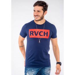 Camiseta Atacado Estampa Masculina Revanche RVCH Branco Frente