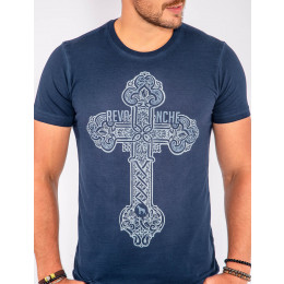 Camiseta Atacado Estampa Silk Masculina Revanche Cross Frente
