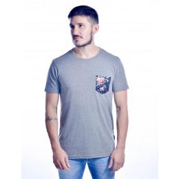 Camiseta Atacado Estampada com Bolso Masculino Revanche Milano Preto Frente