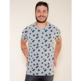 Camiseta Atacado Estampada Masculina Revanche Veryl Branca Frente