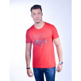 Camiseta Atacado Estampada Masculino Revanche American Class Vermelha Frente