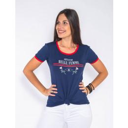 Camiseta Atacado Feminina Estampa Revanche Belle Femme Branca Frente