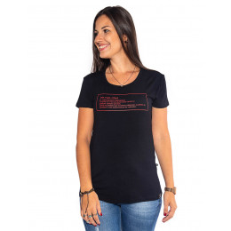 Camiseta Atacado Feminina Estampa Revanche Significado Preta Frente