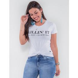 Camiseta Atacado Feminina Revanche Killing It Preto Frente