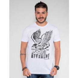 Camiseta Atacado Gavião Masculina Revanche Argélia Preto Frente
