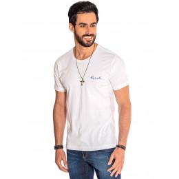 Camiseta Atacado Gola Redonda Masculina Revanche Pádua Off-White Frente