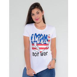Camiseta Atacado Make Love Feminina Revanche Elinore Preto Frente