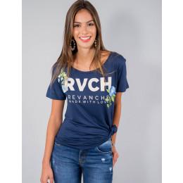 Camiseta Atacado Manga Curta com Patches Feminina Revanche Ruanda Frente