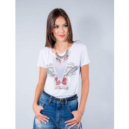 Camiseta Atacado Manga Curta Feminino Revanche Premarel Frente Preto