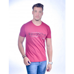 Camiseta Atacado Masculina Bordado Revanche Estampa 1984 Dog Rosa Frente