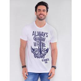 Camiseta Atacado Masculina Revanche Always Branco Frente