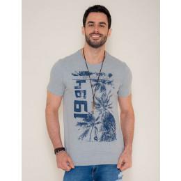Camiseta Atacado Masculina Revanche Coqueiro 1984 Azul Marinho Frente