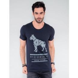 Camiseta Atacado Masculina Revanche Dog Mescla Frente
