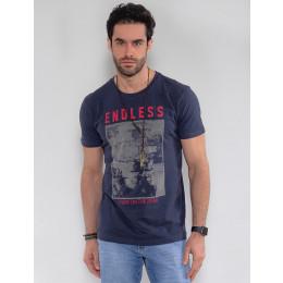Camiseta Atacado Masculina Revanche Endless Preto Frente