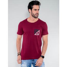 Camiseta Atacado Masculina Revanche Granada Vinho Frente