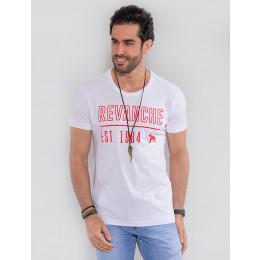 Camiseta Atacado Masculina Revanche Turcomenistão Branco Frente
