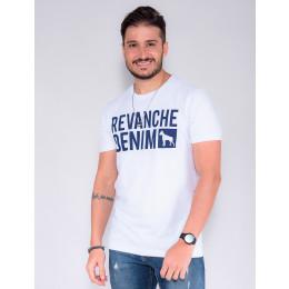 Camiseta Atacado Masculino Revanche Ivo Preto Frente