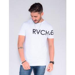 Camiseta Atacado Masculino Revanche Wesley Branco Frente