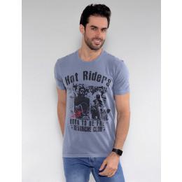 Camiseta Atacado Skull Masculina Revanche Christien Rosa Frente