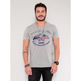 Camiseta Atacado Skull Masculina Revanche Dash Azul Marinho Frente