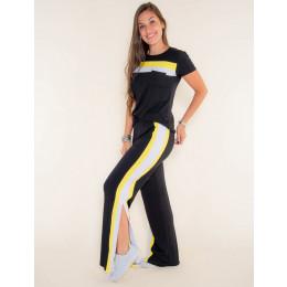 Conjunto Atacado Calça + Camiseta Feminino Revanche Libeville Mescla 1