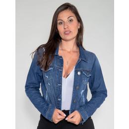 Jaqueta Jeans Atacado Feminina Revanche Bulgária Frente