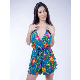 Macaquinho Curto Atacado Estampa Floral Feminino Revanche Havai Frente