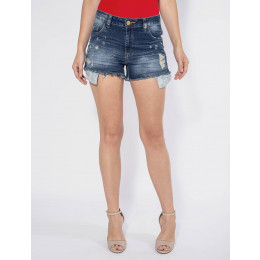 Shorts Jeans Atacado Barra Desfiada Revanche Versalhes Frente