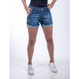 Shorts Jeans Atacado Barra Virada Feminina Revanche Bangui Frente