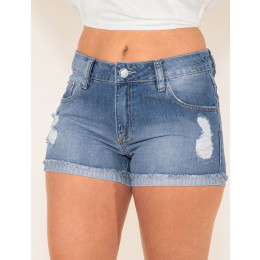 Shorts Jeans Atacado Boyfriend Feminino Revanche Haiti Frente