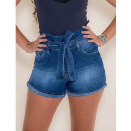 Shorts Jeans Atacado Cós Duplo Feminino Revanche Portovila Frente