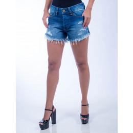 Shorts Jeans Atacado Curto Feminina Revanche Harare II Frente