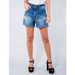 Shorts Jeans Atacado Detonado Feminino Revanche Rimini Frente