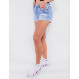 Shorts Jeans Atacado Feminino Revanche Cosovo Azul Lado