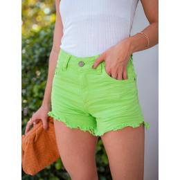 Shorts Jeans Atacado Feminino Revanche Cristal Rosa Frente