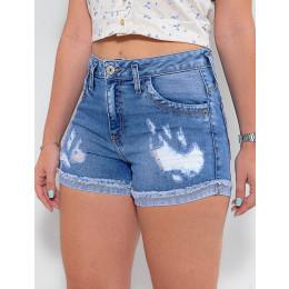 Shorts Jeans Atacado Feminino Revanche Francine Azul Detalhe