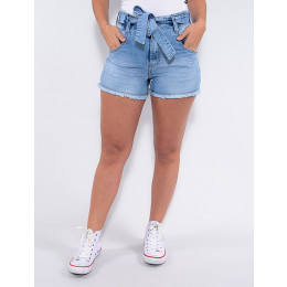 Shorts Jeans Atacado Feminino Revanche Joella Azul Frente