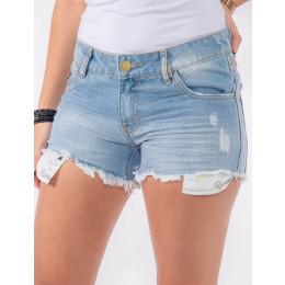 Shorts Jeans Atacado Forro Aparente Feminino Revanche Moresby Frente