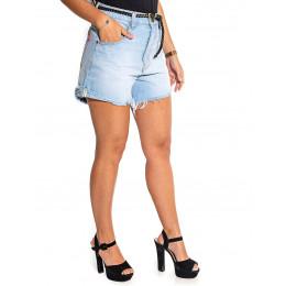 Shorts Mom Jeans Atacado Barra Desfiada Feminino Revanche El Paso Frente