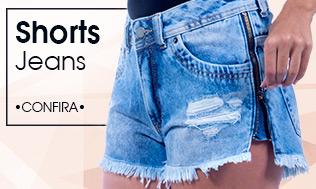 Banner Mosaico Shorts Jeans Feminino sl 1