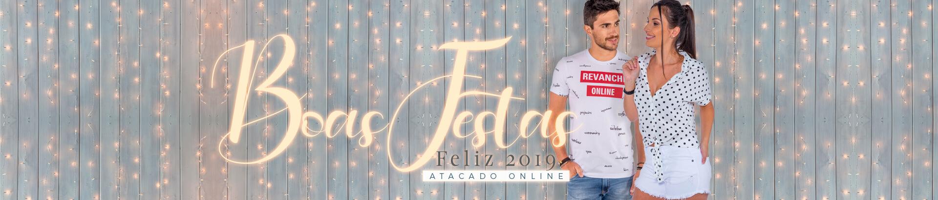 Banner Home Boas Festas - Roupas Atacado
