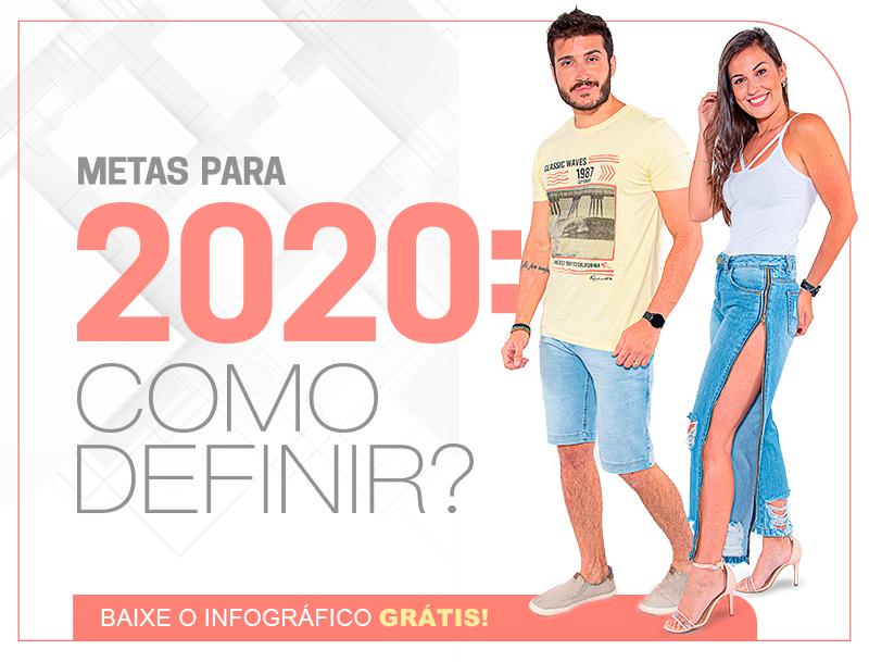 Infográfico - Definindo as metas da sua loja de roupas para 2020 em 7 passos