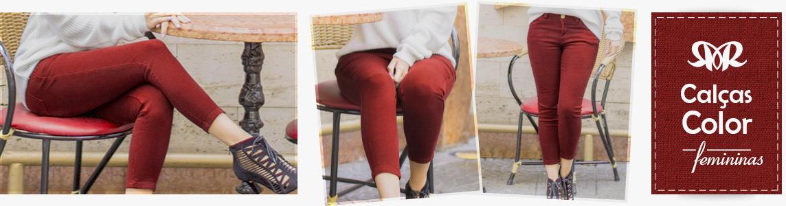 Calças Color Sarja Femininas Revanche