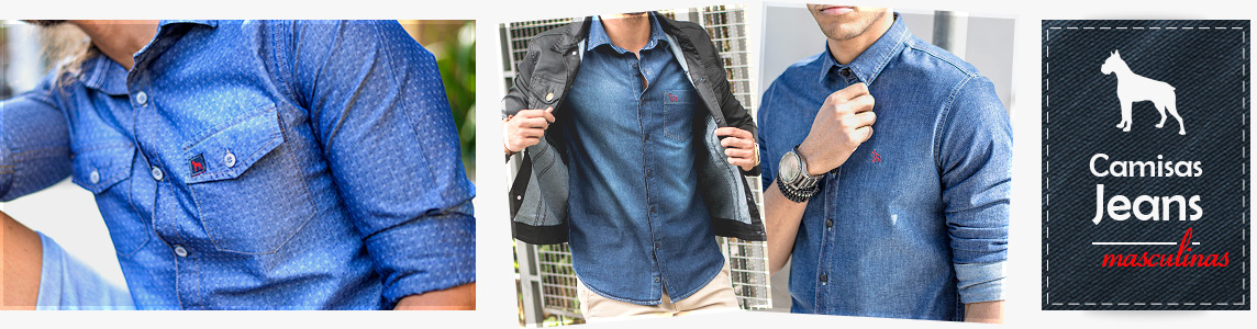 Camisas Jeans Masculinas Revanche